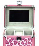 Professioneller rosafarbener Aluminiumrahmen Belüftung-Verfassungs-Kasten mit Tellersegmenten