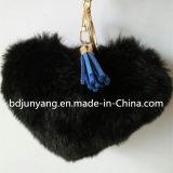 Faux POM POM шарма мешка шерсти фальшивки ключевого кольца шерсти красивейшего сердца форменный для мешка