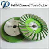 Rotella di alluminio stridente della tazza del diamante del Turbo di segmento del metallo di pietra concreto