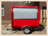 Carro móvel do alimento do caminhão vermelho do alimento Ys-Fv300-6 para a venda