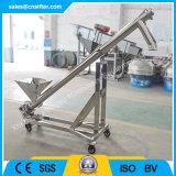 Pequeño transportador de tornillo flexible del acero inoxidable para el polvo