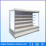Commeercial Multideckのスリラーのスーパーマーケットの開いた表示冷却装置