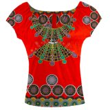 Wax Ankara Clothing Les plus récents Tops Designs Girls African Printing Clothes