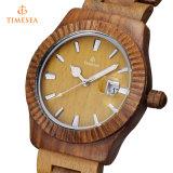 Montre automatique 72363 d'homme de datte de montre de Mens de mode de montre en bois du bois en bambou de quartz