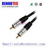 RCA al cable del sistema de pesos americano del conector del RCA para el &AMP audio