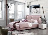 Кровать фабрики мебели Foshan Китая двойная конструирует кровать ткани мягкую