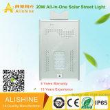 Beste Verkopende LEIDENE van de Legering van het Aluminium van de Prijs 15W-100W van de Fabriek ZonneStraatlantaarn