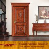 Obra clásica que talla la puerta interna del sitio de madera sólida (GSP2-073)