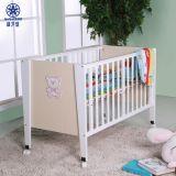 Cama de madera de la Junta de madera Cute Bear Cartoon Baby Crib Niños Muebles