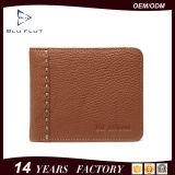 Portefeuille van de Creditcard van de Portefeuille van het Leer RFID van het Embleem van de douane de Echte Blokkerende