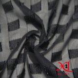 服のための黒いジャカード方法ファブリックか布またはHijab