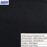 Хлопко-бумажная ткань Twill хлопка 10*10 80*46 покрашенная 320GSM для Workwear