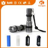 Fabrik-Preis-Qualitäts-Taschenlampe LED nachladbar, heiße Mini-LED Taschenlampen-Fackel des Verkaufs-2000lm