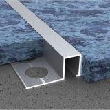 Ajuste recto de aluminio del azulejo del borde