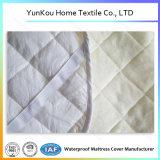 Protector de la pista de colchón del diamante de bambú liso impermeable de la fibra que acolcha