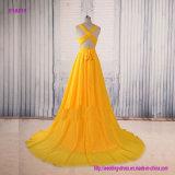 Tiefer V-Stutzen eine Zeile Abend-Kleid