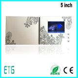 видео- поздравительная открытка 4.3inch, поздравительная открытка LCD, видео- визитная карточка