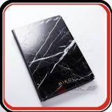 Изготовленный на заказ горячим черный фольги напечатанный логосом & белый мраморный плановик тетради мрамора конструкции книга в твердой обложке