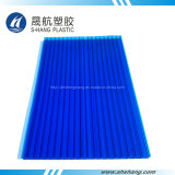 Oscuro de la hoja azul de policarbonato hueco plástico para cubiertas
