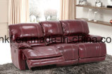 Recliner L sofa de coin de cuir de forme (UL-NS276) de mouvement