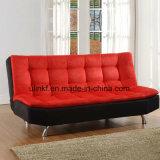 Sofá de cuero de las nuevas del diseño de la sala de estar piernas del metal (UL-NS421)