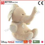 귀여운 연약한 박제 동물 장난감 코끼리