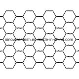 Ячеистая сеть оцинкованной стали шестиугольная