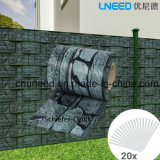 좋은 품질 Schiefer-Optik 450g 19cm*35m PVC 지구 스크린 정원 담