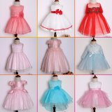 2017 do vestido floral Sleeveless do algodão do Applique da curva do verão meninas quentes do vestido elegante do Sell