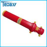 Cylindre hydraulique d'étape multi à longue course télescopique lourde