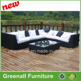 多藤及びアルミニウム家具、屋外の藤のソファー