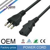 Sipuイタリアの標準電源コードの卸売のパワープラグの電線