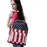 Tela di canapa dello zaino del sacchetto di banco della spalla dello zaino della bandierina degli S.U.A. Stati Uniti d'America
