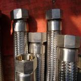Manguito trenzado del metal del acero inoxidable con la guarnición de Bsp NPT