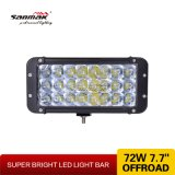 LED  Driving  Light  Barra clara Offroad do diodo emissor de luz 72W da barra 7.7 ''