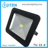 50W indicatore luminoso della lampada di inondazione di colore IP65 LED del nero dell'indicatore luminoso di inondazione della PANNOCCHIA LED