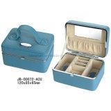 Metallrahmen-Sahne-Leder-kleiner Geschenk-Schmucksache-Kasten