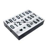 Алфавит символов СИД помечает буквами A4 коробку размера СИД кинематографическую светлую