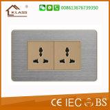 Soquete novo do interruptor do aço inoxidável do projeto fácil instalar