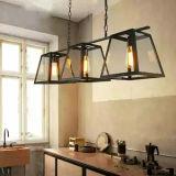 현대 가정 부엌 훈장 늘어진 램프 빛