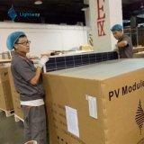 El panel solar 310 polivinílicos W de la central eléctrica