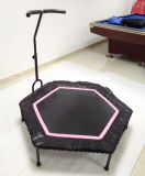 Adultos de 48 polegadas Hexagonal Mini aptidão trampolim com punho