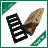 Negro Logo Caja de papel Kraft con inserto de espuma