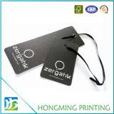 Tag feito sob encomenda do cair do papel da roupa da impressão