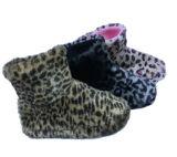 2017 ботинок нового плюша мальчиков девушок печати леопарда крытых
