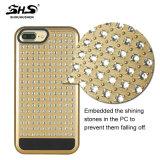 Shs iPhone 7을%s Luxuly에 의하여 솔질되는 Pattren 잡종 전화 상자