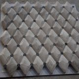 Polished Beautiful Rhombus Wood-Grain White Mosaic Tile