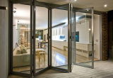 Portas dobráveis de liga de alumínio de boa qualidade e janelas