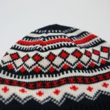 Chapéu de malha de jacquard acrílico de moda para mulheres quentes de moda