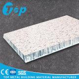 Cloison de séparation acoustique de panneau de nid d'abeilles de mur de granit de marbre de décoration